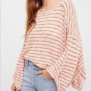 Free People Striped Island Girl Hacci Shirt